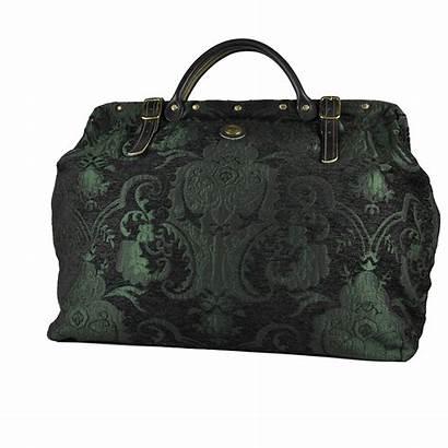 Victorian Emerald Traveler Carpet Bag Bags Carpetbag
