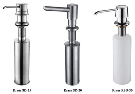 thermocast sink soap dispenser kraus easy push kitchen soap dispenser contemporary