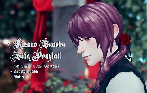 Anime Sims 4 Cc — Anlamveg Kizano Sunobu Side Ponytail