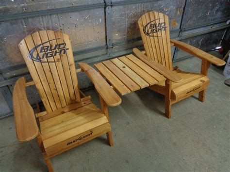 bud light adirondack chairs with table tools hardware