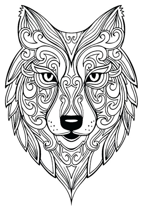 wolf coloring pages  adults  coloring pages  kids