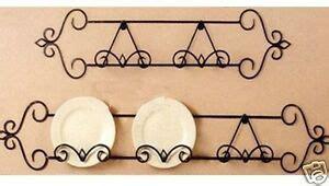 wrought iron wall plate rack display antiqubrown cm ebay
