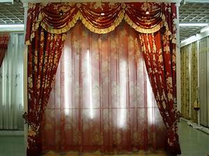 Red Valance Curtains for Living Room : Nice Valance