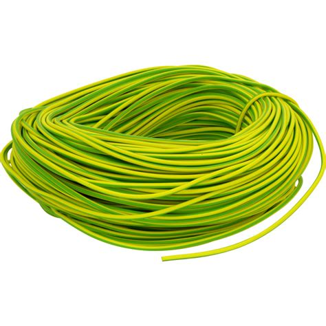 pvc earth sleeving 100m 3mm green yellow toolstation