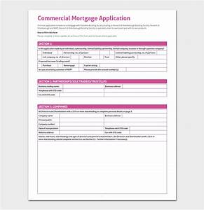 mortgage application template 4 fillable forms for word pdf With commercial loan application template