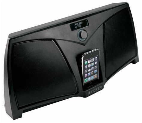 ipod docks with speakers on ebay kicker ik501 powered ikick iphone ipod speaker dock new ebay