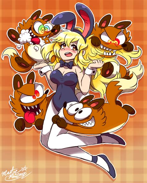 Anime Bunny Girl Attacked By Crazy Toon Foxes By Mast3r
