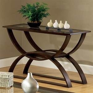 Steve silver dylan sofa table with curved base olinde39s for Curved sofa table for sectional