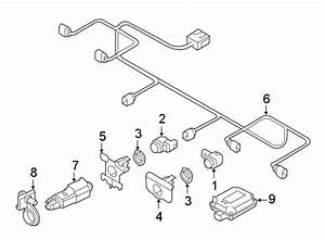 Audi A7 Parking Aid System Wiring Harness  Sensor Harness
