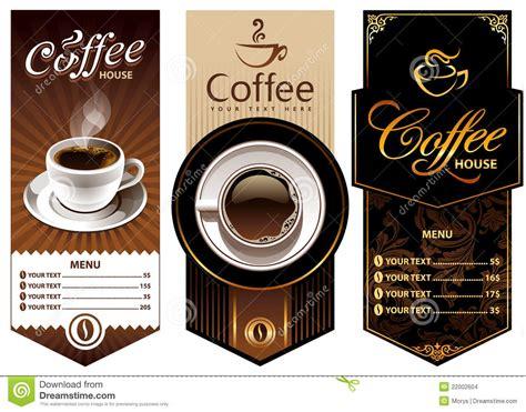 three coffee design templates stock vector image 22002604