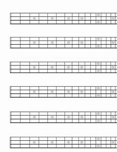 Diagram  Blank Guitar Neck Diagram