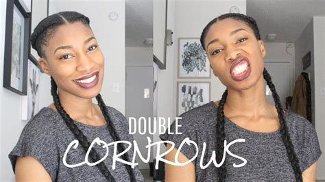 minute tutorial  cornrows  extensions youtube