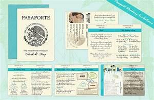 printable passport wedding invitation template free With free printable passport wedding invitations