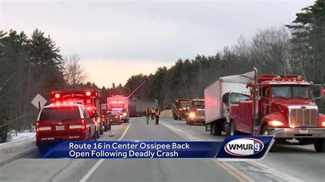 route   center ossipee  open  fatal crash