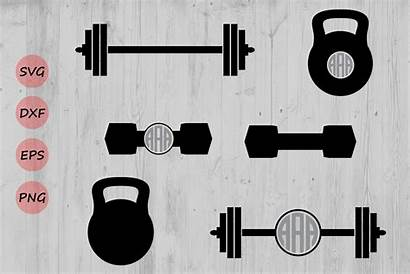 Svg Barbell Silhouette Weights Weight Dumbbell Lifting