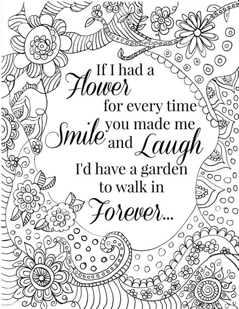 quote coloring pages  adults  teens adult coloring