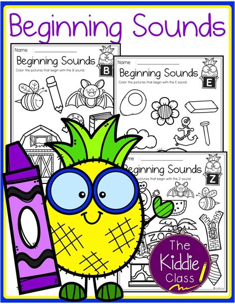 alphabet beginning sounds printables  images