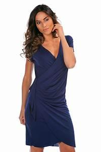 vente hapaneya 25865 robes robe portefeuille bleu With vente de robe