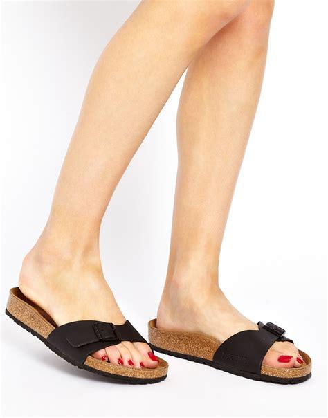 Lyst  Birkenstock Black Madrid Flat Sandals In Blue