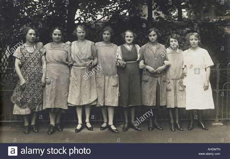 people, women, group, 1920s, 20s, 20th century, historic