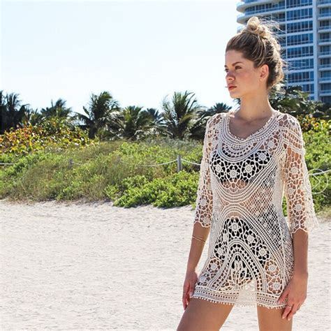 Crochet Cover Up Swimsuit Knit Beach Dress Victoriaswing
