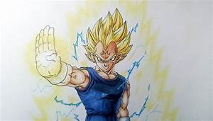 Drawing Majin Vegeta Super Saiyan 2 - YouTube