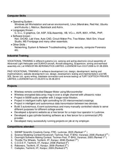 Drummer Resume Exles by Sle Resume