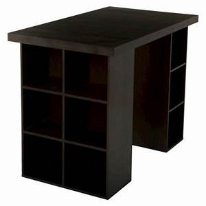 TMS Counter Height Craft Table Espresso