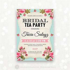 Printable Bridal Shower Invitation, Bridal Tea Party ...