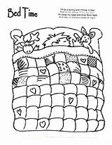 Coloring Pages Night Bed Bedtime Quilt Sheet Sheets Cartoon Printable Quilting Colouring Animal Pattern Bedroom Patterns Getcolorings Worksheets Daycare Animals sketch template