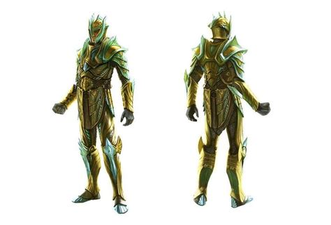 Concept Art Of Male Glass Armor From The Elder Scrolls V