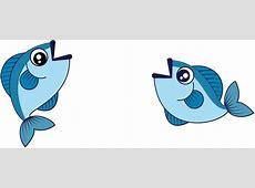 Cartoon Drawing Cartoon small fish material 1601*676