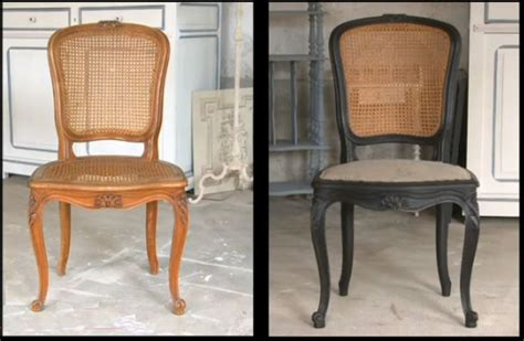 refaire assise chaise idées de relooking transformation de meubles avant
