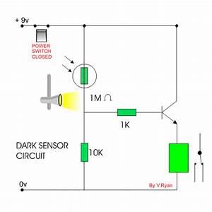light dark sensor question With ldr sensor circuit