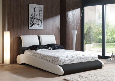 chambre adulte noir et blanc free lit adulte design en pu blanc et noir brita with