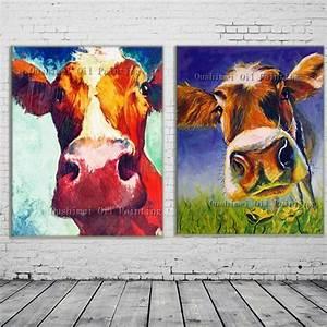 Kuh Bilder Auf Leinwand : online kaufen gro handel cow art aus china cow art ~ Whattoseeinmadrid.com Haus und Dekorationen