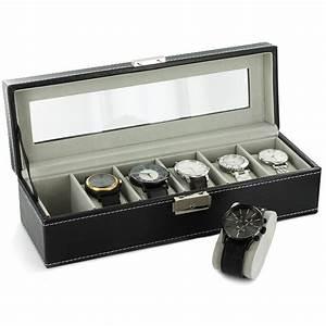 Coffret Rangement Montre : coffret boite de rangement simili cuir pour 6 montres ~ Teatrodelosmanantiales.com Idées de Décoration