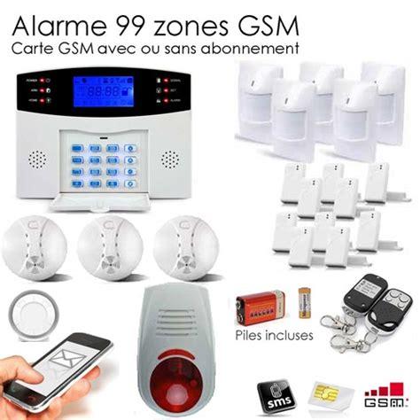 alarme sans fil maison alarme maison sans fil gsm 99 zones xxxl box toutes les alarmes de maison sans fil