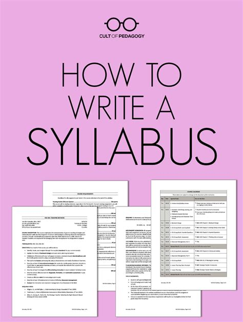 Teaching Middle School Students How To Write A Resume how to write a syllabus cult of pedagogy