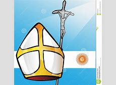 Vatican SymbolS Whit Argentina Flag Editorial Photography