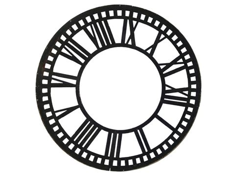 empty clock faces clipart library