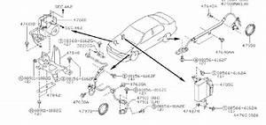 Infiniti G20 Abs Modulator Bracket  Skid  Control  Brakes