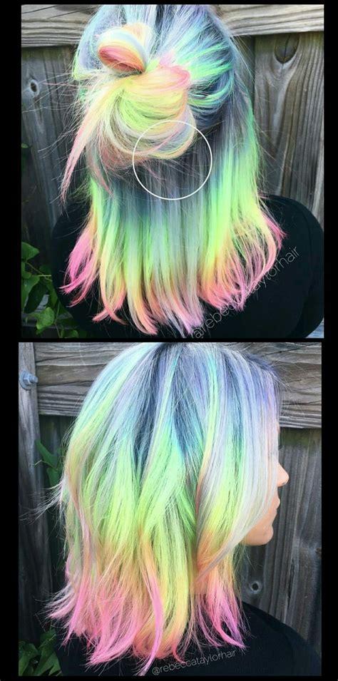 Pastel Rainbow Hair Rebeccataylorhair Pastel Rainbow