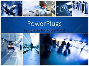 PowerPoint Template: Business travel background about rail ...