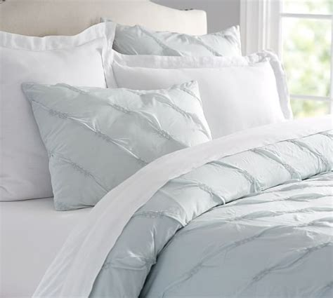 ruched duvet cover lina ruched duvet cover sham pottery barn