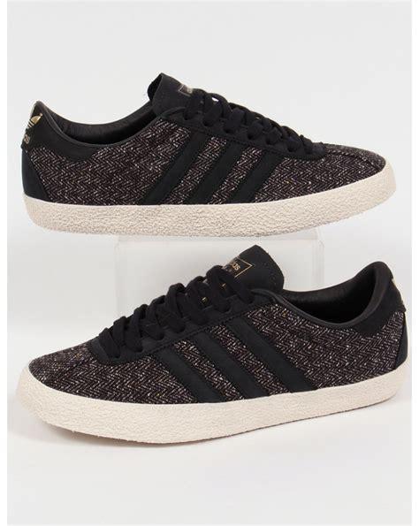 Adidas Gazelle 70s Trainers Black, originals, shoes, tweed