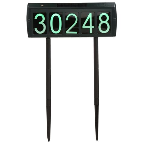 gama sonic solar powered led illuminated address sign gs