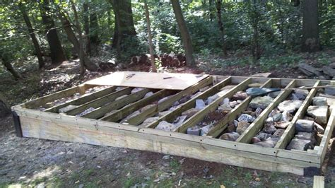 how to build a floor for a house how to build a level shed tiny houses barn foundation