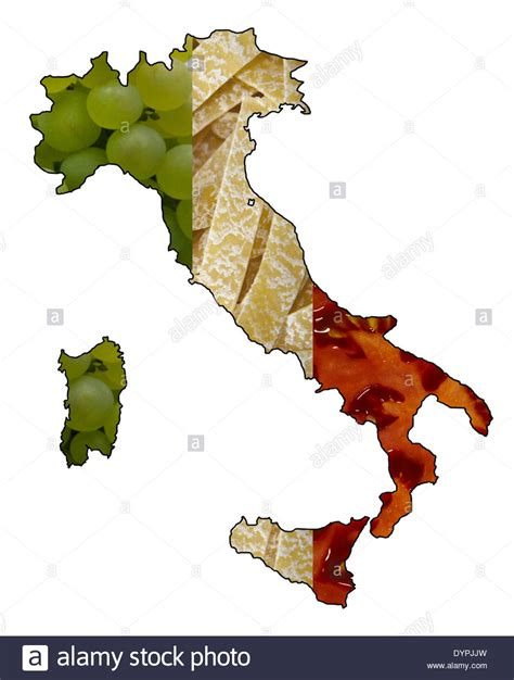 flags italian flag map stock map of italy showing italian flag in food grapes pasta flag