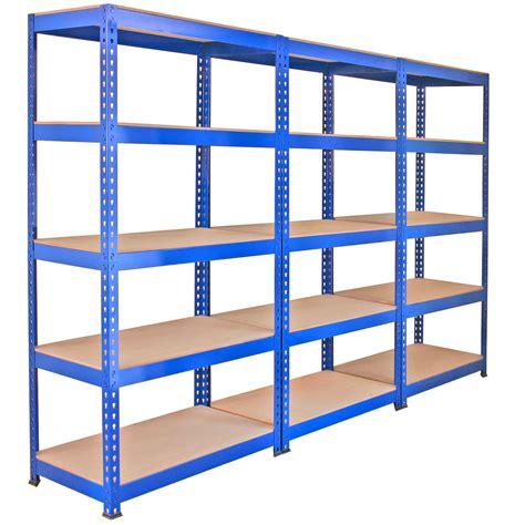 Garage Storage Racking Shelving by 3 X Q Rax Racking Blue 90 X 50 X 180cm 2 X Racking Blue